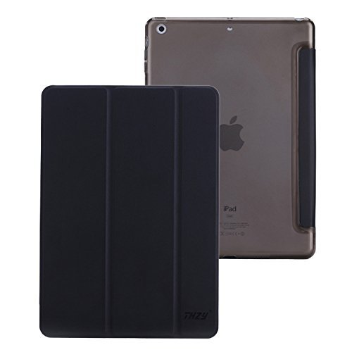 ipad-air-case-thzy-smart-case-cover-transparent-back-cover-ultra-slim-light-weight-auto-wake-up-slee