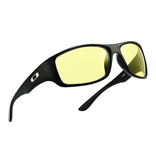 Ruanyi Sonnenbrillen für Männer, Sport Sonnenbrillen Sonnencreme UV400 Vollformat Outdoor-Freizeit (Color : Night Vision Film)