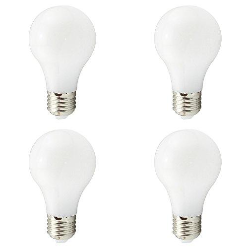 A19 E27 LED Birnen, Sichere Niederspannung AC DC 12 V 24 V 4 Watt, A60 40 Watt Traditionelles Licht Äquivalent, 450 Lumen 360 Grad, Weiß 6000 Karat für RV Camper Marine, Weixuan, 4 Pack -