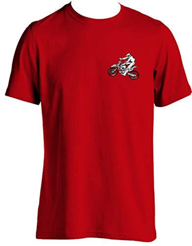 tlux4u Herren-T-Shirt für Dirt Bike, Rennrad, Motorradzubehör, 5 Größen Gr. XXL, rot (Bike Dirt Yamaha Jersey)