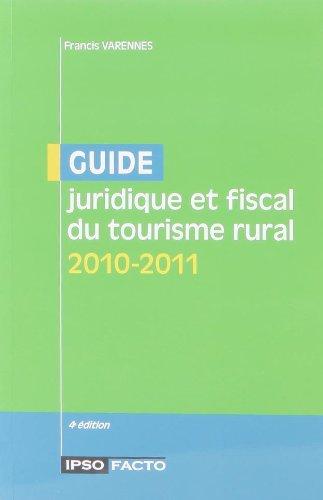 Livre Pdf Téléchargement Guide Juridique Et Fiscal Du Tourisme Rural