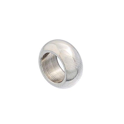 HooAMI Perle Noire Acier inoxydable 8x7mm-10 11mm-3pcs