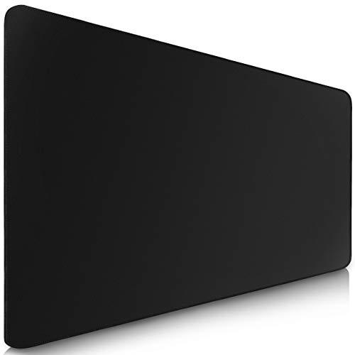 Sidorenko XXL Gaming Mauspad groß - 900 x 400 mm - Fransenfreie Ränder - rutschfest - XXL Mousepad I Tischunterlage - spezielle Oberfläche verbessert Geschwindigkeit und Präzision I schwarz