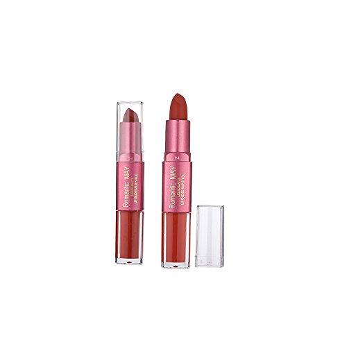 ROMANTISCH Mai Lippenstift Yusell Moisturizer Matte Lips Stick Langlebig Charming Velvet Double Lipstick Lip Gloss (J) -