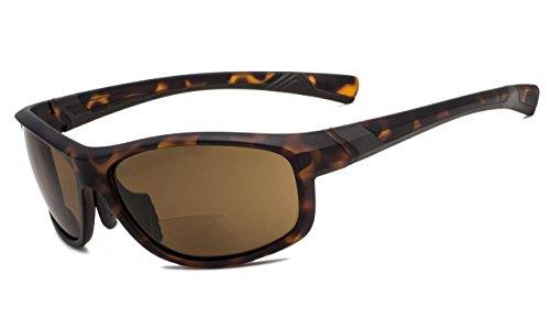 Eyekepper Fashion Sports Bifokale Sonnenbrille TR90 Unzerbrechliche Outdoor-Reader Baseball Laufen Angeln Fahren Golf Softball Wandern Matte Schildkröte Rahmen Braune Linse +1.0