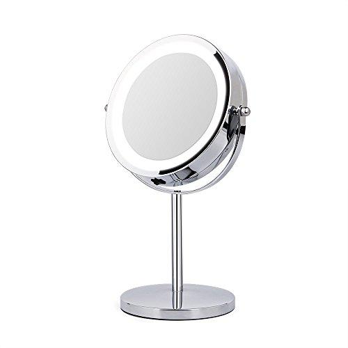 Specchi Ingranditori Per Bagno Con Luce.Amztolife 10x Specchi Ingranditori Specchio Per Il Trucco Illuminato