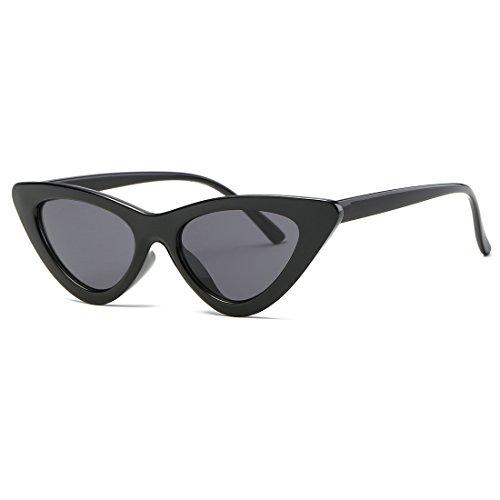 kimorn Sonnenbrillen für Damen Metallscharniere Clout Goggles Sonne Gläser K0566 (Schwarz)