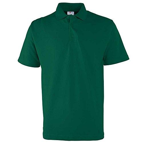 RTXtra Mens Classic Casual Colours Short Sleeve Pique Button Polo Shirt Bottle