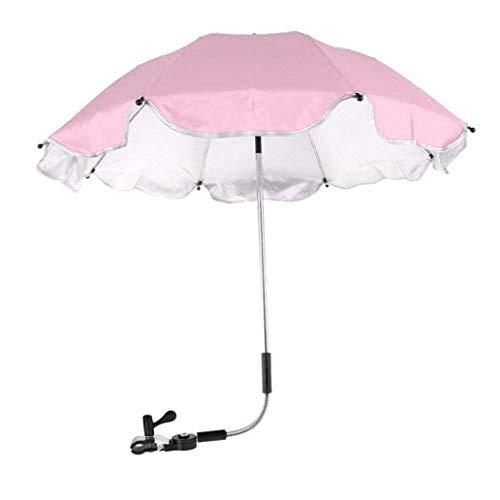 Igemy Kinderwagen Abdeckung Sonnenschirm für Sun Regen UV Strahlen Schutz Outdoor Regenschirm (Rosa)