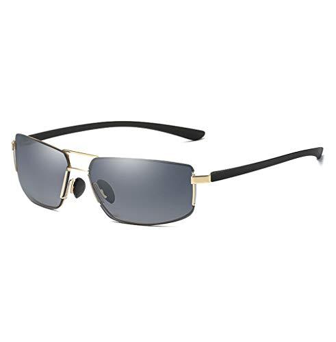 Quadratische Sonnenbrille Herren Sonnenbrille Rahmenlose Vintage Sonnenbrille Brille (Color : Gold, Size : Kostenlos)