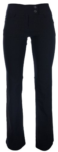 Girls School Trousers Skinny Stretch Hipster Age 7 8 9 10 11 12 13 14 15 16 Black (Age 11-12 years, Black)
