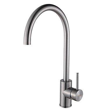Preisvergleich Produktbild Modernes Edelstahl-304 Einhand-Brushed Chrome Finish Küchenarmatur