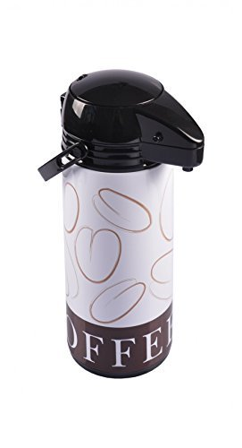Pump Thermoskanne 1,9L Kaffeekanne Pumpkanne Isolierkanne Thermosflasche Kanne, 61135 Design:Coffee...