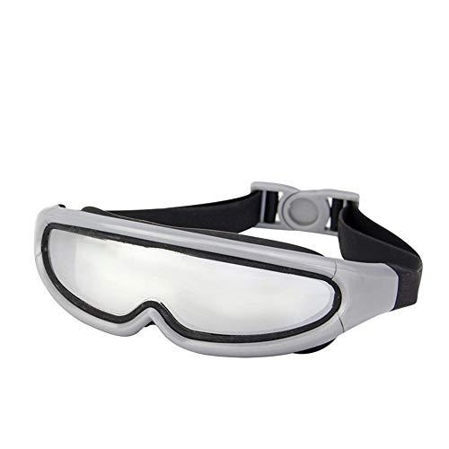 LPcool Taucherbrille,Outdoor Unisex Große Rahmen Bunte Überzogene Schutzbrillen Wasserdichte Anti-Fog-Silikon Schwimmen, Grau