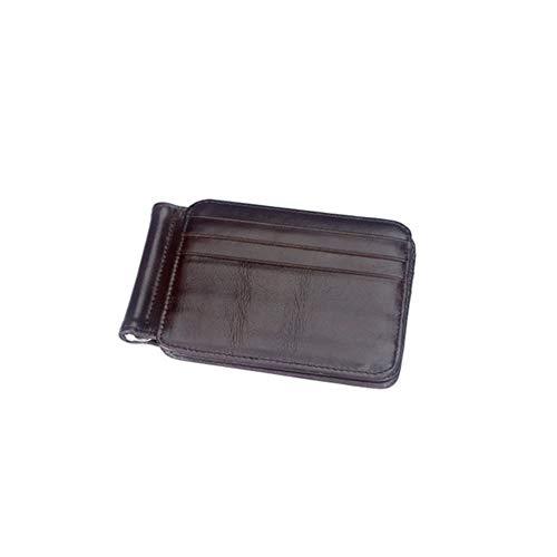 Braune Leder Scheckheft Wallet (Herren Passport Trifold Wallet Herrenbrieftasche Card Package Card Set Multifunktions Herren Leder Geldbörse Retro für Business und Freizeit,deepcoffee)