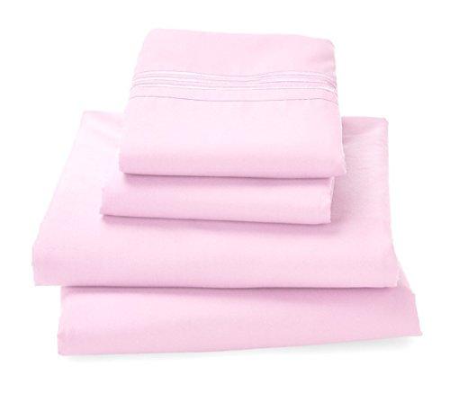 Where The Polka Dots Roam Bettlaken-Set, 100% sehr weiche Mikrofaser, Pflegeleicht Full Rose Platin Solid Jersey