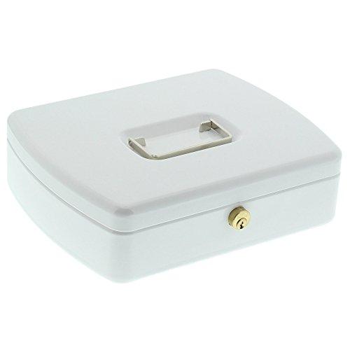 Burg-Wächter Geldzählkassette Inkl. Münz- und Banknoteneinsatz, 200 x 255 x 75 (H x B x T), Weiß, Stahl, für Schubladen geeignet, ZK 2257 Euro