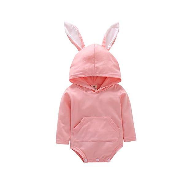 Fairy Baby Baby Girls Easter Bunny Disfraz Jumpsuit Ear Body con Capucha Ropa Linda del Equipo 1