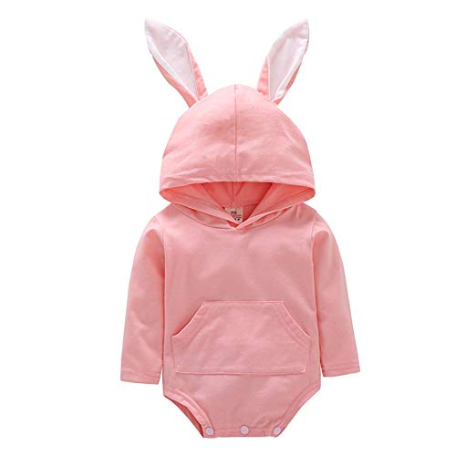 Fairy Baby Baby Mädchen Osterhase Kostüm Overall Ohr mit Kapuze Bodysuit niedliche Kleidung Size 100(18-24 Monate) (Rosa) (Lustige 18 Monate Alte Kostüm)