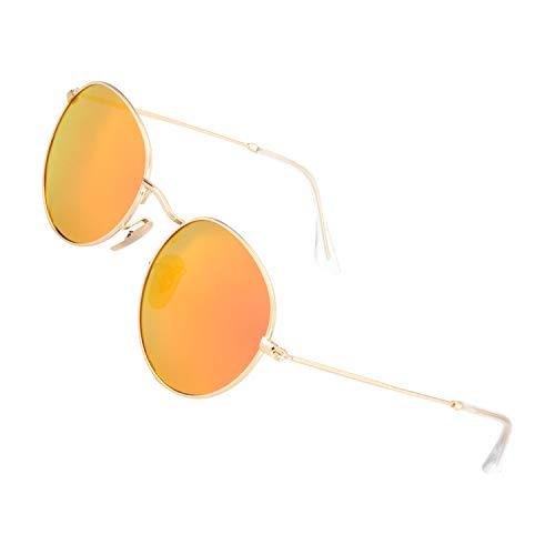 GQUEEN Vintage Polarisierte Sonnenbrille mit UV400 Schutz MFF7