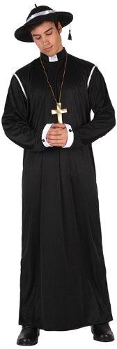 Imagen de atosa  disfraz de cura para hombre, talla 52  54 12389