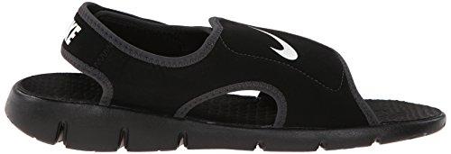 Nike Sunray Adjust 4 (Gs/Ps), Tongs Garçon, Rose, 3.5UK/ 23.0cm Noir / Blanc (Noir / Blanc-Anthracite)