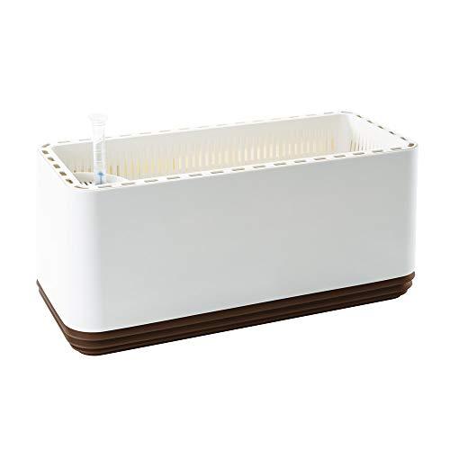 AIRY Box - Natürlicher Luftreiniger für Allergiker - Patentierter Pflanztopf als Filter gegen Schadstoffe, Haus-Staub, Pollen, Geruch, Allergie (braun)
