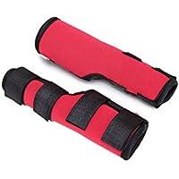 Leggings para perros Cinturón auxiliar, tres tamaños de un par de perros de edad roja, perros discapacitados, mascotas, rodilleras, polainas, perros, cubiertas de lesiones quirúrgicas ( Tamaño : L )