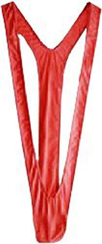 Creamlin Herren Sexy Borat Manikini Badeanzug Thong Halloween Kostüm Weihnachtsgeschenk (Rot) (Für Männer Kostüme Schlafzimmer)
