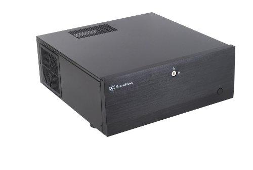 SilverStone SST-GD07B - Grandia HTPC ATX Desktop Gehäuse mit hochleistungsfähigem und geräuscharmen Kühlsystem, schwarz