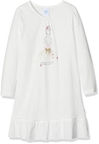 Sanetta Mädchen Sleepshirt w.Print Nachthemd, per Pack Beige (Broken White 1427.0), 140 (Herstellergröße: 140)