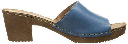 Montanha Sandale Azul Bocado Couro Leder Branco Cqvt5T