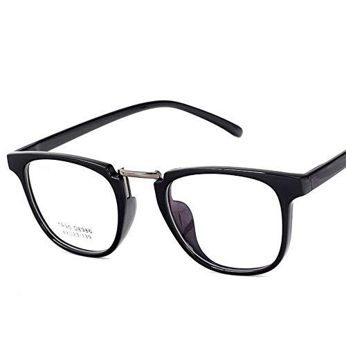 UICICI Ultraleichte, Flache Brillengläser Brillen ohne Rezept (Farbe : Light Black)