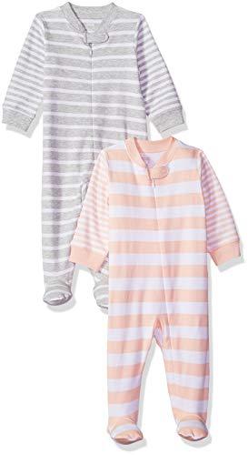 Amazon Essentials 2-Pack Sleep Play infant-and-toddler-sleepers, Boy Colorblock, Preemie - Preemie Kleidung