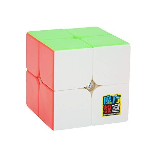 OJIN MoYu MoFang JiaoShi MF2 2x2x2 Zauberwürfel Cubing Klassenzimmer MF2 2x2 Geschwindigkeitswürfel Puzzle Glatte Denkaufgabe Spielzeug (Scrub Stickerless) -