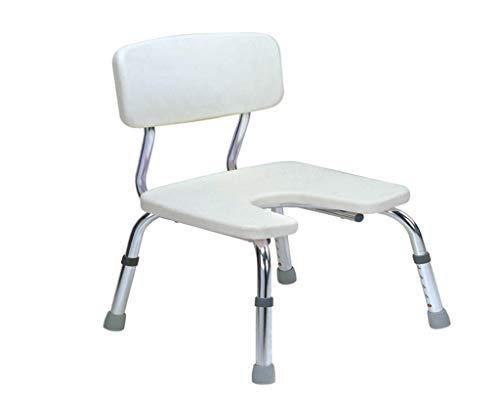VIUNCE Anti-Rutsch-Bad Hocker Bad Stuhl Bad Hocker Duschstuhl for Behinderte Badezimmer Bad Stuhl Bad Stuhl Aluminium Schwangere Frauen Bad Anti-Rutsch-Hocker