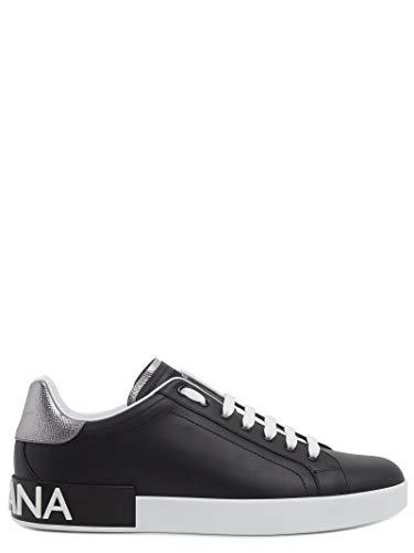DOLCE E GABBANA Herren Cs1587ah5278b979 Schwarz Leder Sneakers