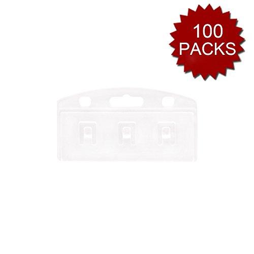 Gogo 100Packungen Hälfte Karte Badge Halterung für durch Wischen und Abtastung, Passform Standard Karte Einheitsgröße vertical