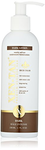 Sunless Selbstbräuner Lotion (Xen-Tan Dark Lotion For An Instant Color ? A Premium Sunless Tan For Face & Body with Jojoba & Nut Oils - 236ml)