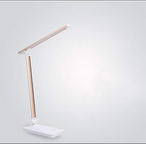 Metall LED Augenschutz Tischlampe Faltbare Tischlampe Schlafsaal Nachtlicht Büroarbeitslicht Leselampen, schwarz -