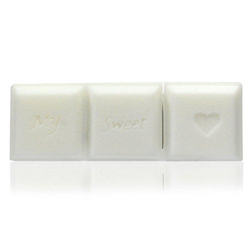 Kunststoff-schokoladen-bonbons (818-Shop No17300010008 USB-Sticks (8 GB) Riegel Schokolade 3D weiß)