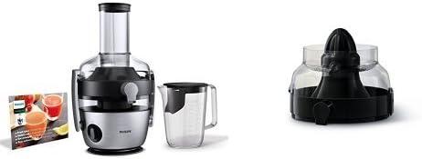 Philips HR1921/20 Entsafter, FiberBoost, QuickClean Technologie, Vorspülfunktion, 1100 W, edelstahl