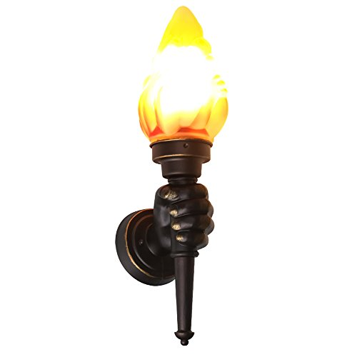 Neilyn Vintage Wandlampe Kreative LED Flamme Lampe Innenbeleuchtung Feuer Brennen Effekt Dekoration Lichter Wand Fackel Luminary Bar Restaurants Coffee Shop Club Dekoration (Color : Left hand) -