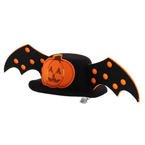 perfk Fledermaus-Hut mit Kürbis Muster Halloween Kostüme Zubehör für Hund und Katze