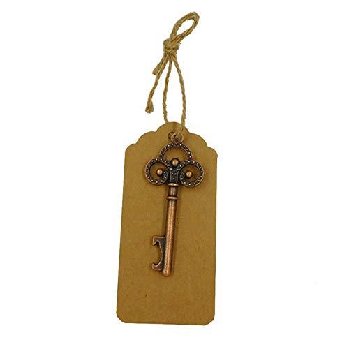 JZTRADING Flaschen?ffner Schlüsselbund Dekorations-Tag-Karten Hochzeit Schlüssel Flaschen?ffner Weinlese-Art Keychain Begünstigt den Bronzer Opener (Begünstigt Wein Flasche)
