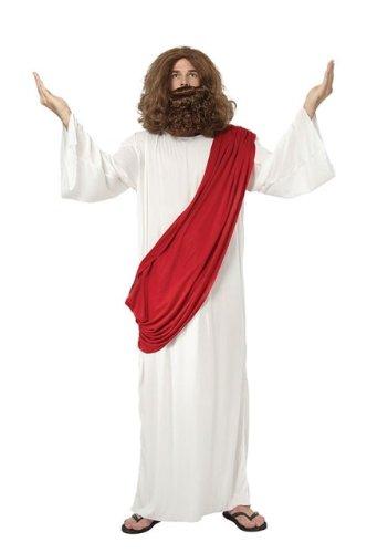 Jesus Fancy Dress Costume Robe, Wig & Beard - One Size