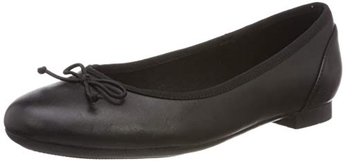 Clarks Couture Bloom, Damen Ballerinas, Schwarz (Black Leather), 39 EU (5.5 Damen UK) -