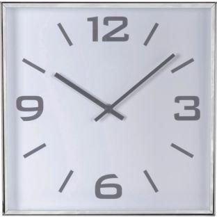 Jermyn Silver Square Wall Clock