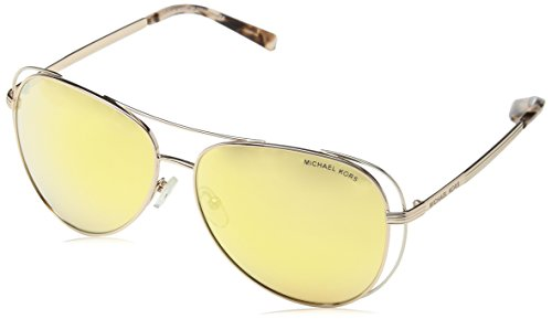 Michael Kors Damen LAI 11757J 58 Sonnenbrille, Rose Gold/Silver-Tone/Liquidrosegold,