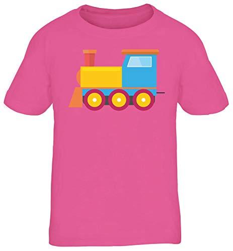 Zug Lokomotive Gruppen Kostüm Zugmaschine Kinder T-Shirt Karneval & Fasching witzige Verkleidung Pink // 8 Jahre (118cm - - Gruppe Von Acht Kostüm